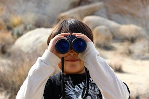 Inny or outy? Which way's your attention facing? Photo of binoculars
