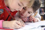 The secret of speedy revision - photo of two children writing