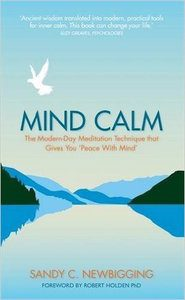 Suffering interpretation: Sandy Newbigging - image of book: Mind Calm