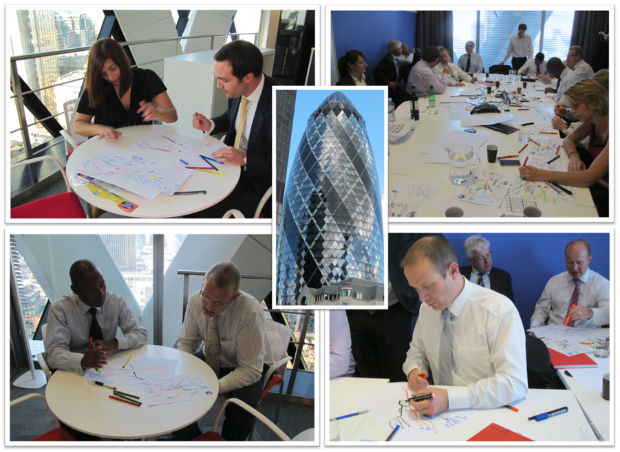 Lysette Offley's MindMapping Workshop at the Gherkin 14.09.11
