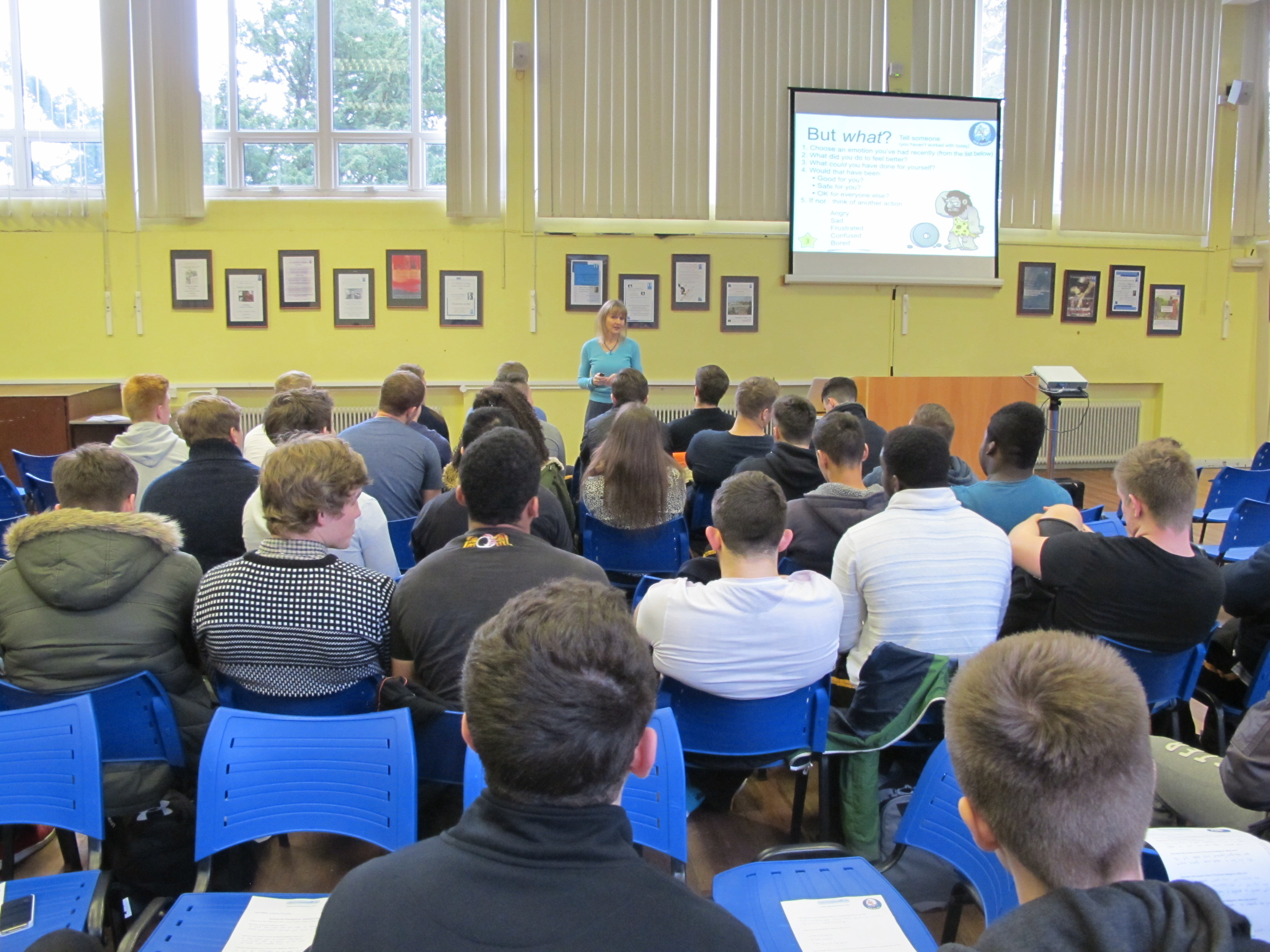 Lysette Offley and Advanced Thinking at Henley College Rugby Academy 15.01.14