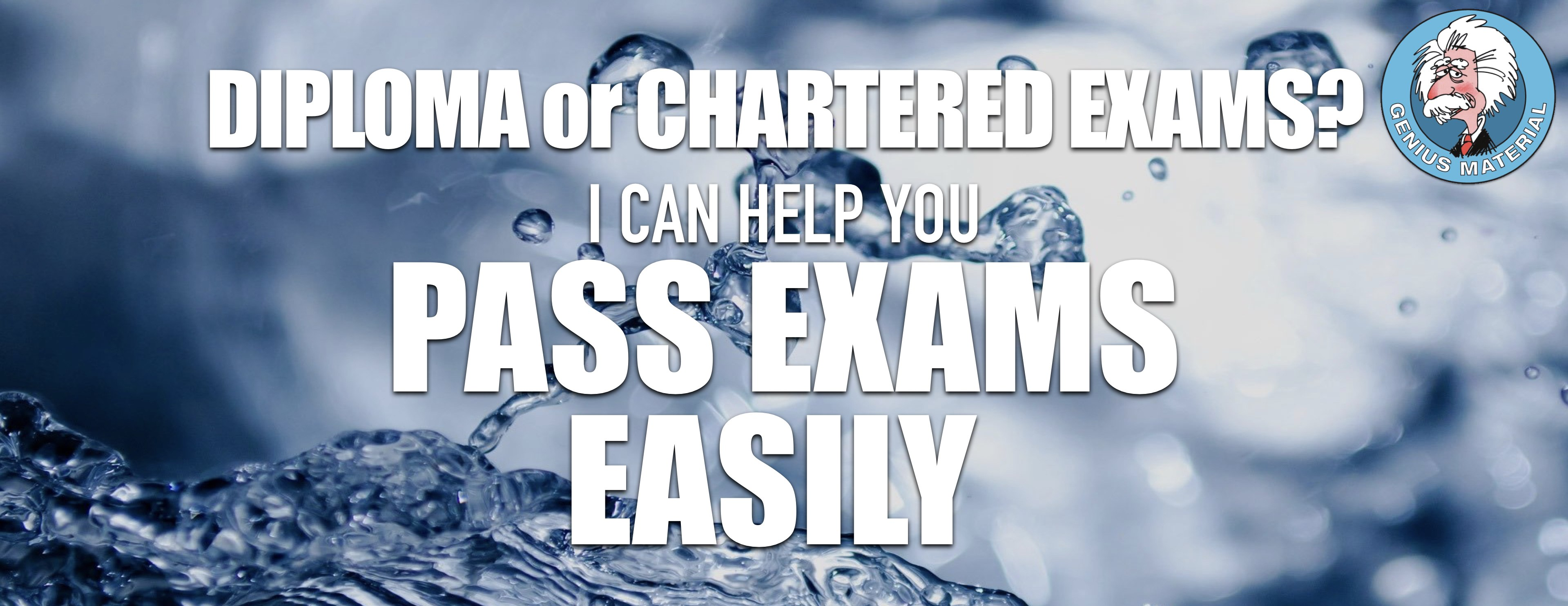 pass Diploma and Chartered Financial exams
