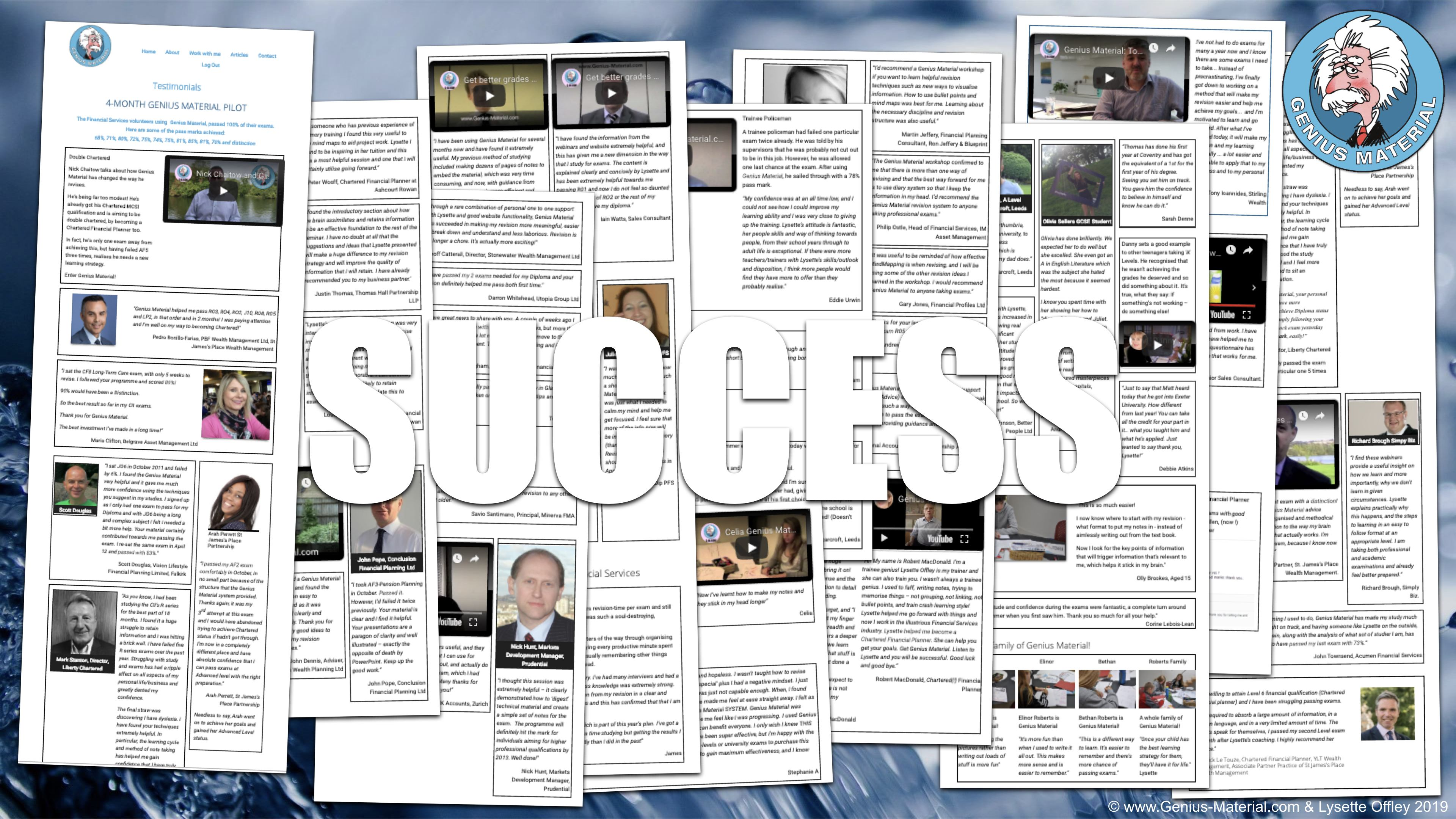 pass Diploma and Chartered Financial exams - success stories