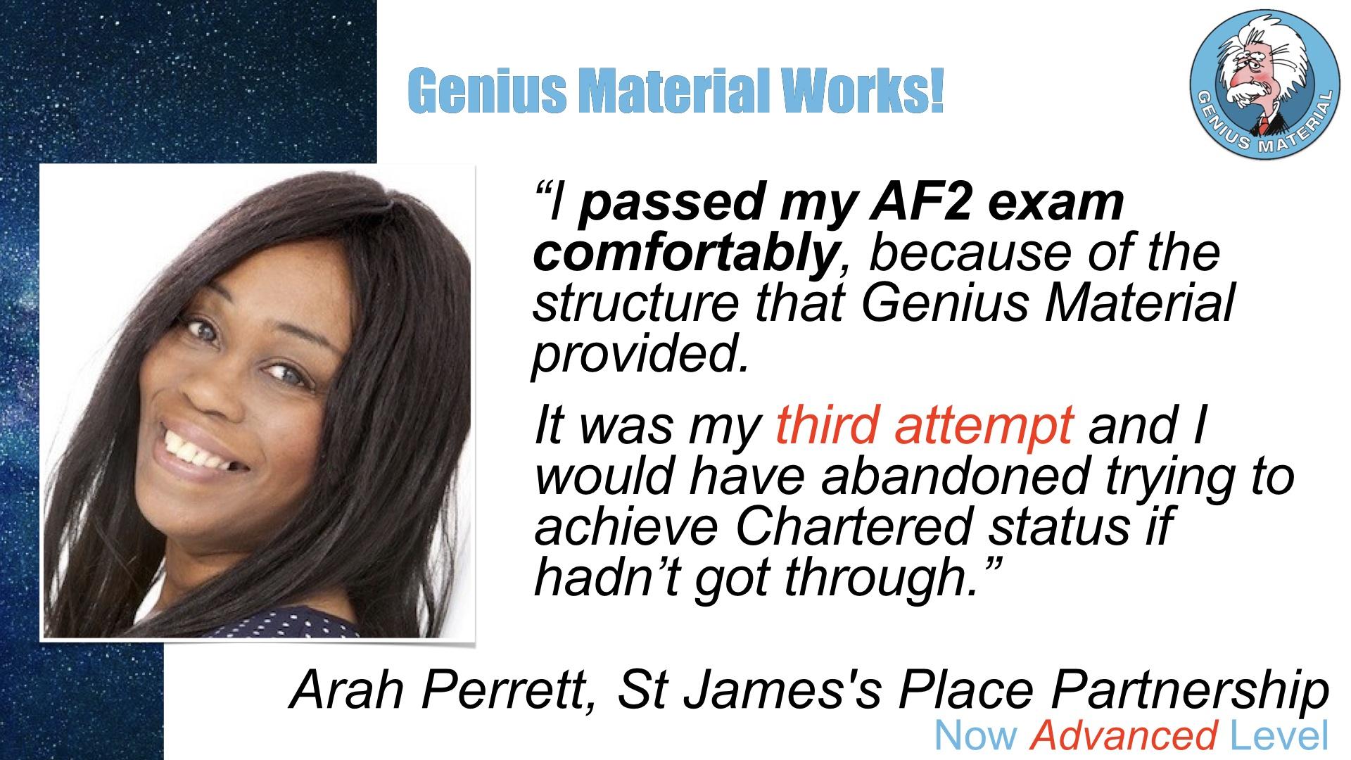 Arah Perrett is Genius Material